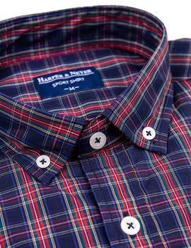 Harper And Neyer Camisa Hombre Sport Cuadros