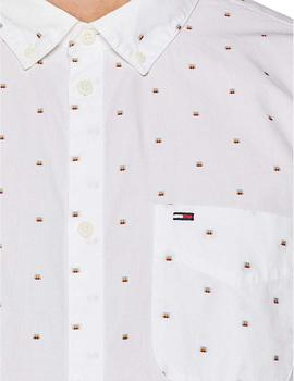 Tommy Jeans Camisa Hombre Dobby Shirt Blanco