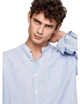Pepe Jeans Camisa Hombre Brent Azul