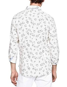 Pepe Jeans Camisa Hombre Dawson Flores Blanco