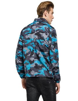 Cazadora Replay Nylon Estampado Camuflaje Azul