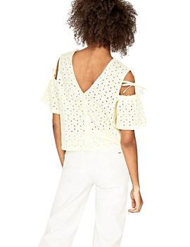 Pepe Jeans Blusa PL302306037 Evelyn Amarillo Blanc