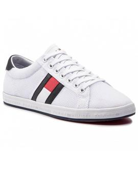 Tommy Hilfiger Zapatilla Hombre Flag Detail Blanco