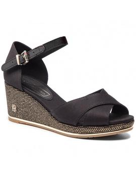 Tommy Hilfiger Cuña Mujer Feminine Mid Wedge Negro