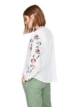Pepe Jeans Blusa Mujer Mie Blanco