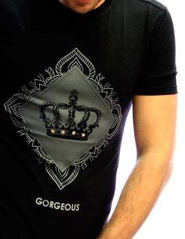 Gorgeous Camiseta Hombre Crown Negro
