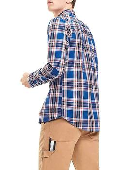 Tommy Jeans Camisa Hombre Essential Multi Check Marino