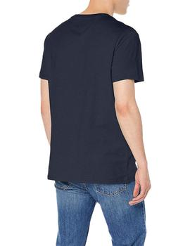 Tommy Jeans Camiseta Hombre Circle Graphic Marino