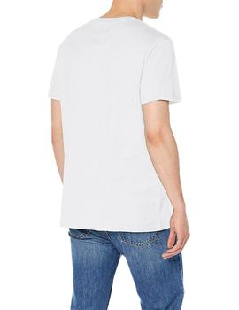 Tommy Jeans Camiseta Hombre Circle Graphic Blanco