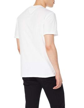 Tommy Jeans Camiseta Hombre Essential Box Logo Blanco