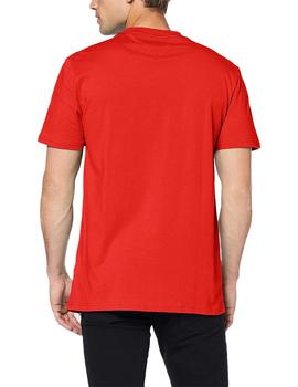 Tommy Jeans Camiseta Hombre Essential Box Logo Rojo