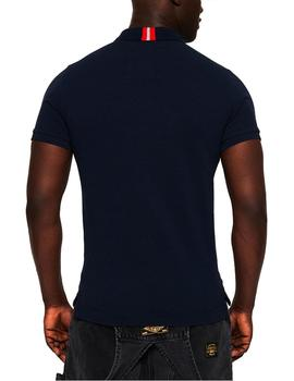 Superdry Polo Hombre International Chest Band Marino