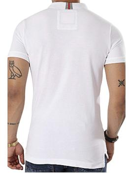 Superdry Polo Hombre International Chest Band Blanco