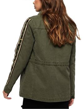 Superdry Chaqueta Mujer Rookie Star Shacket Kaki