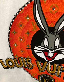 Fuck Your Fake Camiseta Mujer Louis Vuitton Bugs Bunny Limit