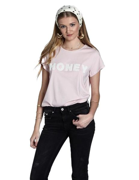 A Bicyclette Camiseta Mujer Rosa Vigore Con Honey En Toalla