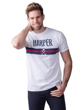 Harper And Neyer Camiseta Hombre Army Blanco