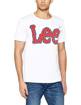 Lee Camiseta Hombre Logo Regular Blanco