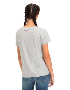 Camiseta Mujer Tommy Jeans Phrase Gris