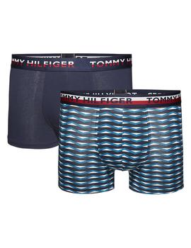 Calzoncillos Hombre Tommy Jeans 2p Trunk Print Marino