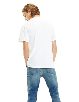 Camiseta Hombre Tommy Jeans Logo Print Blanco