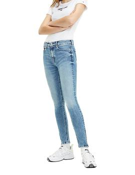 Vaquero Mujer Tommy Jeans Mid Rise Skinny Nora 7/8 Azul