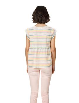 Top Indi And Cold Crop Rayas Multicolor Mujer