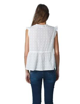 Top Indi And Cold Cuerpo Plumeti Evase Blanco Mujer