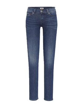 Vaquero Tommy Jeans Mid Rise Skinny Nora Azul Mujer