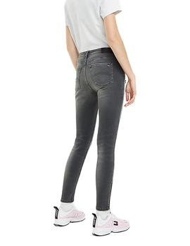 Vaquero Tommy Jeans Mid Rise Skinny Nora 7/8 Gris Mujer