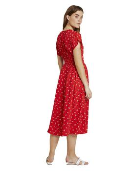 Vestido Tommy Jeans Waist Detail Midi Floral Mujer