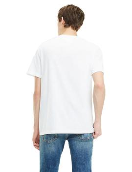 Camiseta Tommy Jeans Contrast Logo Blanco Hombre