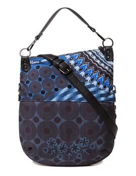 Bandolera Mujer Desigual Blue Friend Folded Blue Indigo