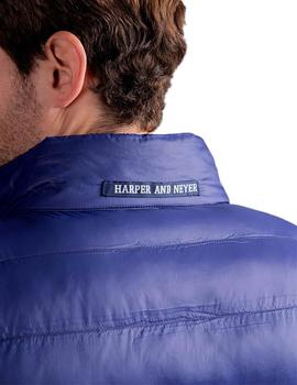 Harper And Neyer Chaleco Hombre Técnico Azul Marin