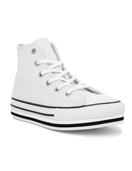 CHUCK TAYLOR HIGH PLATFORM LEATHER BLANCO