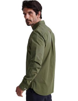 Camisa Hombre Superdry Classic Twill Khaki