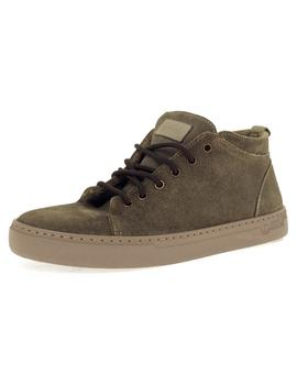 Bota Hombre Natural World Suede Wool  Kaki