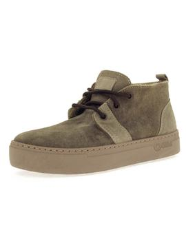 Botín Mujer Natural World Safari Suede Wool Kaki