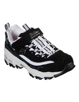 Zapatillas Niños Skechers D´Lites Growd Appeal Negro