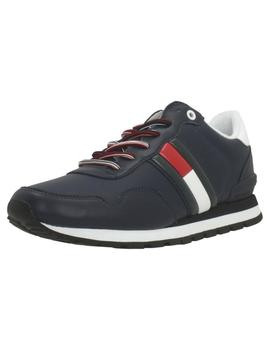 Zapatillas Hombre Tommy Hilfiger Leather Lifestyle Marino