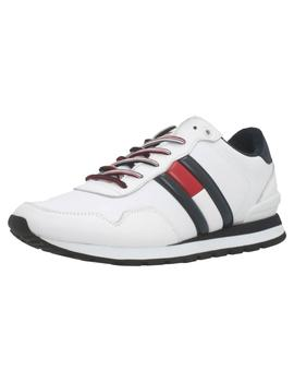 Zapatillas Hombre Tommy Hilfiger Leather Lifestyle Blancas