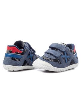 Zapatillas Bebe Munich Mini Goal VCO Azul