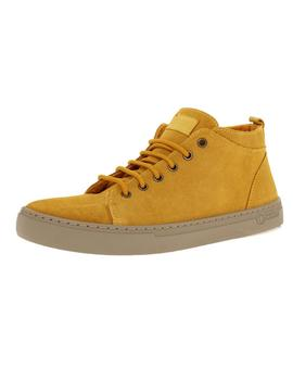 Bota Hombre Natural World Media Suede Wool Mostaza