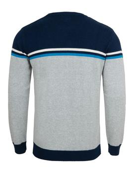 Jersey Hombre Pepe Jeans Henry Gris Con Azul