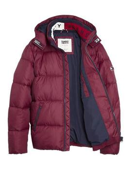 Cazadora Hombre Tommy Jeans Essential Hood Puffa Granate