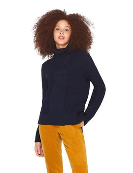 Jersey Mujer EDC By Esprit Cable Roll Marino