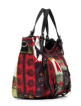 Bolso Mujer Desigual Patch Texturas