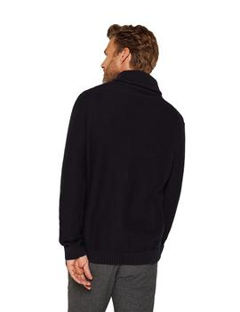 Jersey Hombre Esprit Shawl Cable Marino