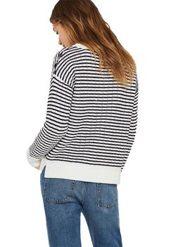 Jersey Mujer Esprit Striped Blanco