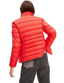 Anorak Mujer Tommy Jeans Essential Hooded Down Jacket Rojo